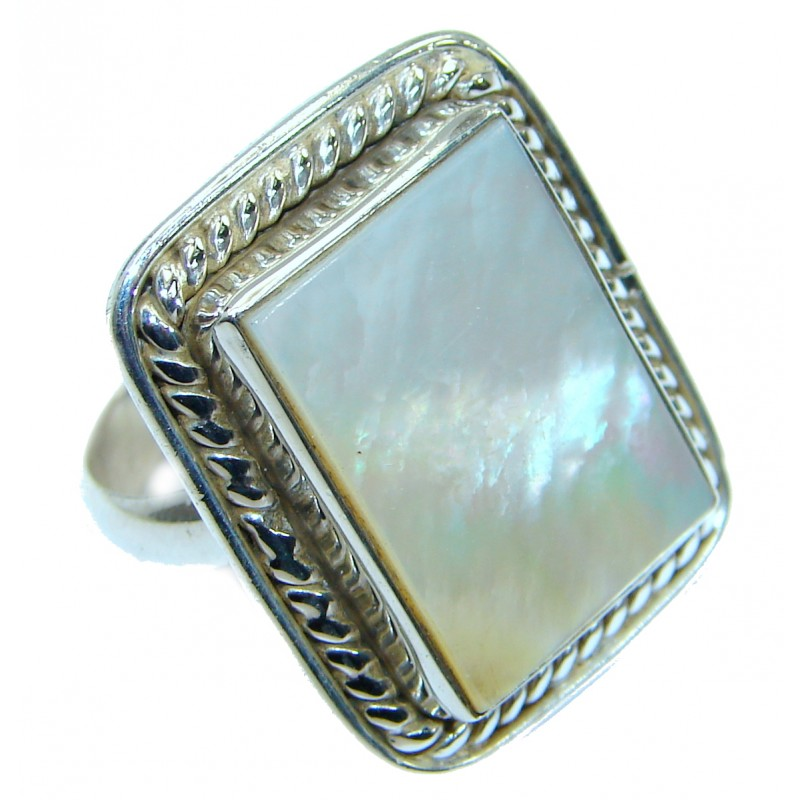 Blister Pearl .925 Sterling Silver handmade ring size 7 3/4