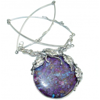 Stella Purple Sea Sediment Jasper .925 Sterling Silver handmade necklace