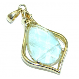 Green Amethyst Gold over .925 Sterling Silver handmade Pendant