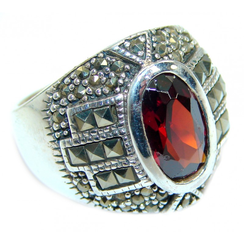 Huge Magic Cubic Zirconia .925 Sterling Silver handmade Ring s. 7