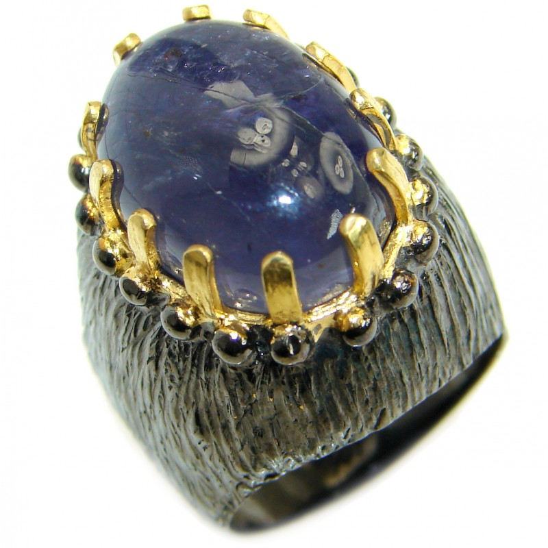 Authentic Australian Tanzanite .925 Sterling Silver handmade Ring s. 7 1/2