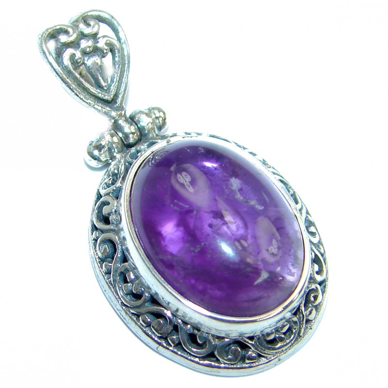 Petite Purple Amethyst .925 Sterling Silver handcrafted Pendant