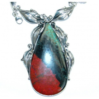Fine Art Natural Sonora Jasper .925 Sterling Silver handmade necklace