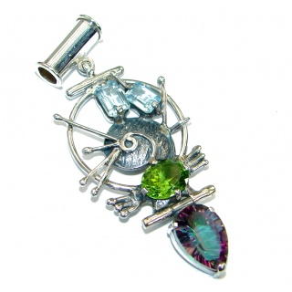 Marine Creation Magic Topaz .925 Sterling Silver handmade Pendant