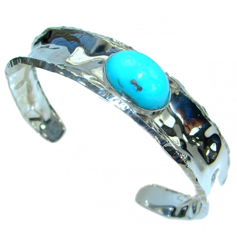 Boho Chic Genuine Sleeping Beauty Turquoise .925 Sterling Silver ...