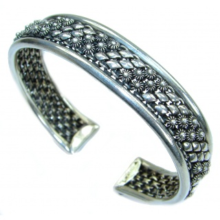 Sublime Bali Design .925 Sterling Silver handcrafted Bracelet / Cuff