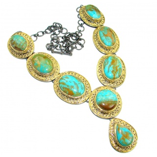 American Spirit Natural Sleeping Beauty Turquoise .925 Sterling Silver handmade Necklace