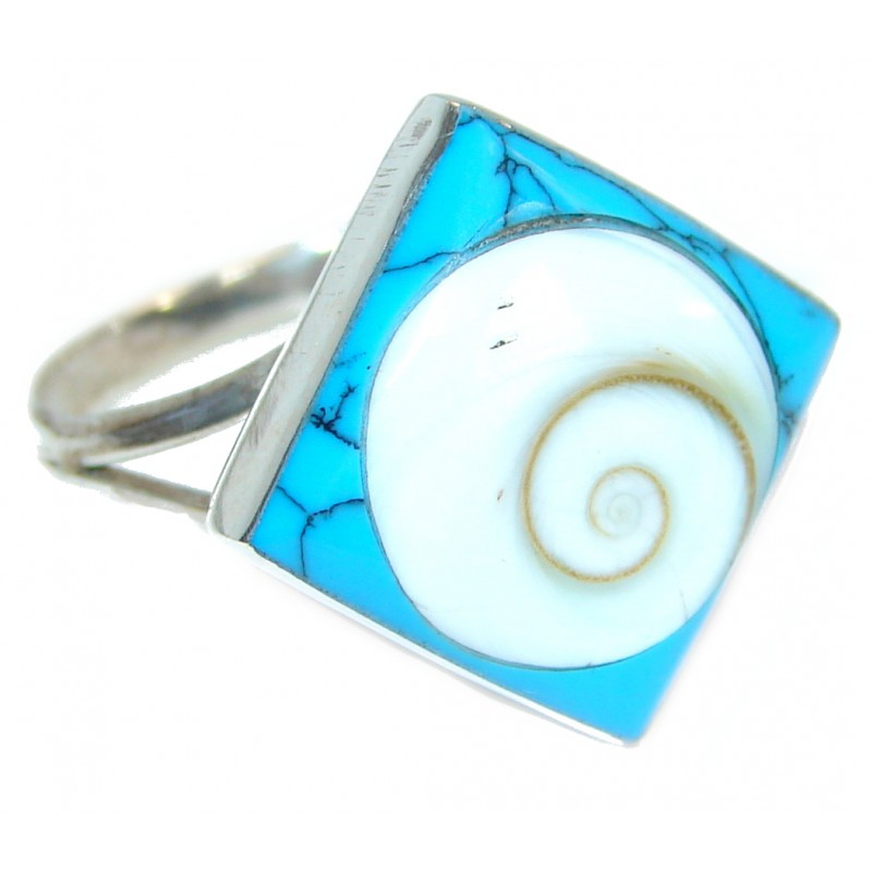 Great Ocean Shell Sterling Silver Ring s. 7 1/4
