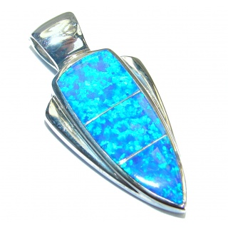 Great Japanese Opal .925 Sterling Silver Pendant