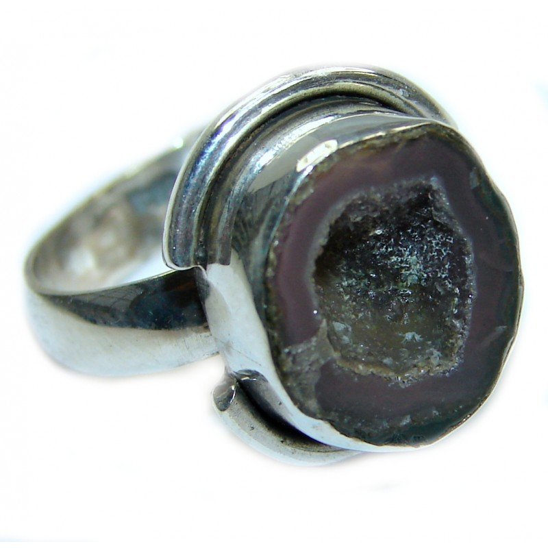 Sahara's Sand Druzy Agate .925 Silver handcrafted Ring s. 7 3/4