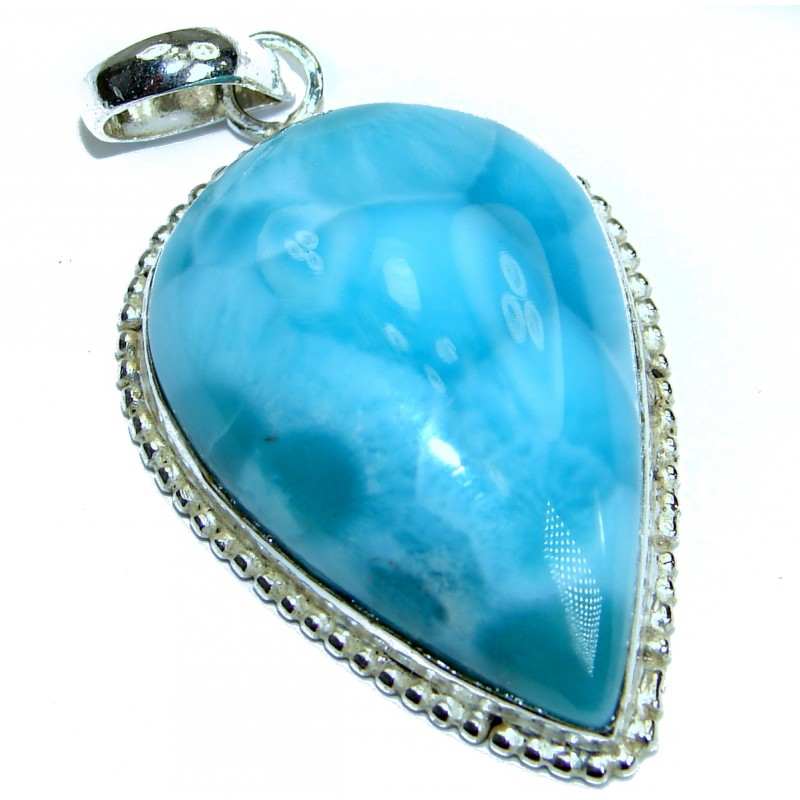 Simple Design amazing quality Larimar .925 Sterling Silver handmade pendant