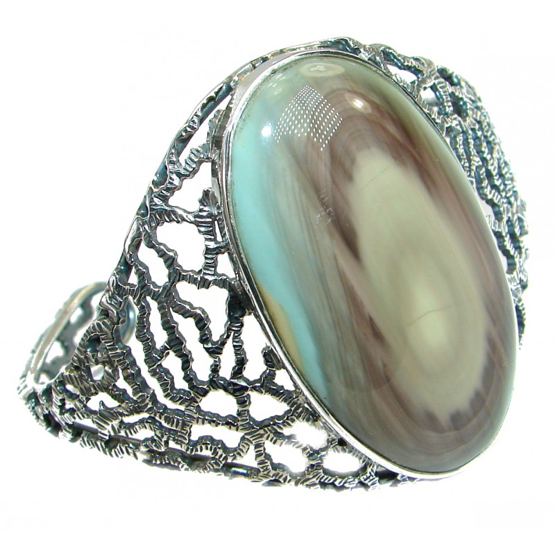 Bohemian Style Excellent quality Imperial Jasper .925 Sterling Silver Bracelet / Cuff
