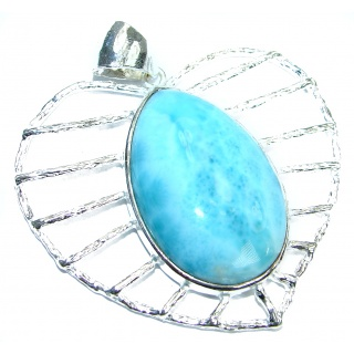 Flawless amazing quality Larimar .925 Sterling Silver handmade pendant