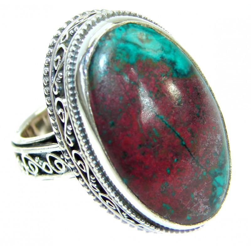 Perfect Sonora Jasper .925 Sterling Silver handcrafted Ring size 6