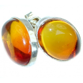 Genuine Baltic Amber .925 Sterling Silver Earrings