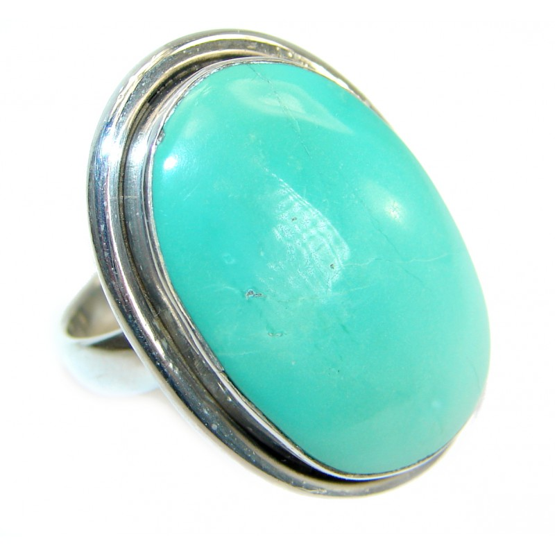 Turquoise .925 Sterling Silver handmade Ring s. 6