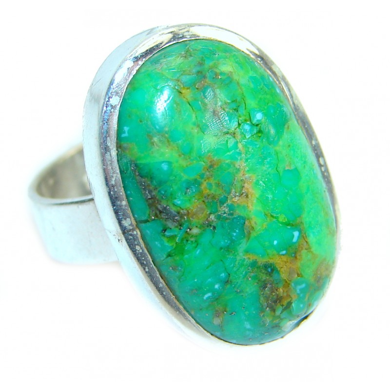 Turquoise .925 Sterling Silver handmade Ring s. 8
