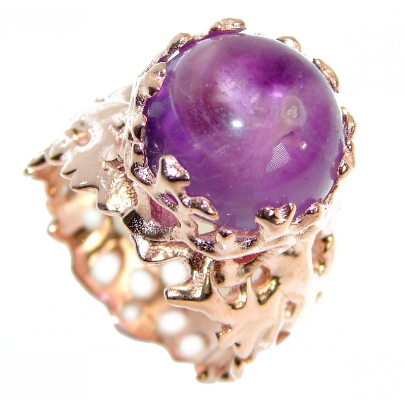 Passiom Natural 25.5 ct. Amethyst Gold over .925 Sterling Silver Ring s. 7