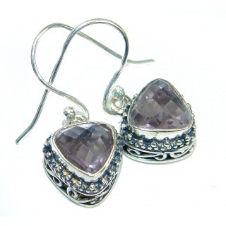 Vintage Style Amethyst .925 Sterling Silver handmade earrings