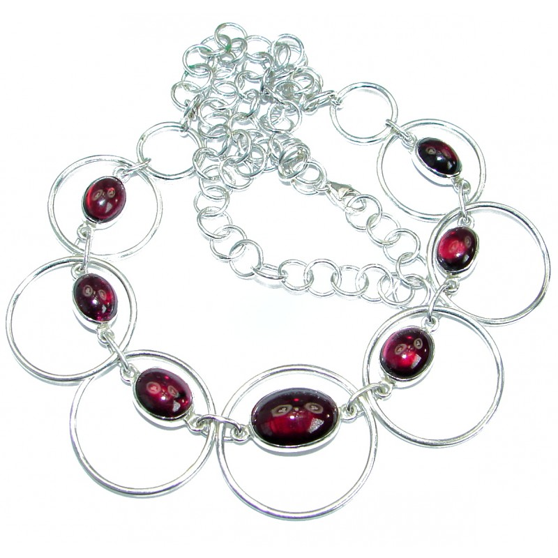 New Universe Genuine Ruby .925 Sterling Silver handmade necklace