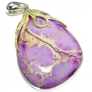 Julietta Purple Sea Sediment Jasper .925 Sterling Silver handmade Pendant