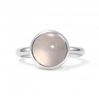 Charming ring in sterling silver with a rose quartz