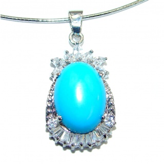 Created Turquoise .925 Sterling Silver necklace