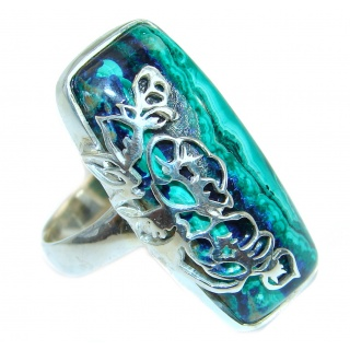 Great quality Blue Azurite .925 Sterling Silver handcrafted Ring size 7 3/4