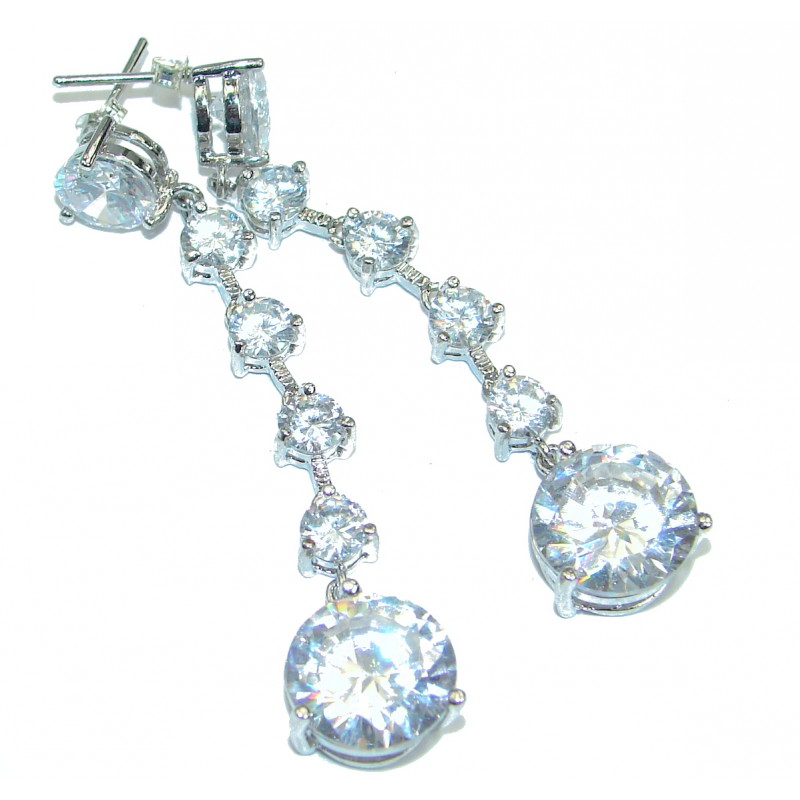 Luxury Cubic Zirconia .925 Sterling Silver earrings