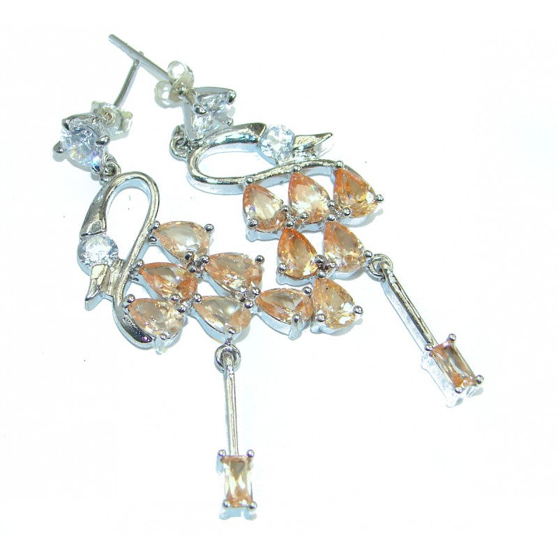 Golden Cubic Zirconia .925 Sterling Silver earrings