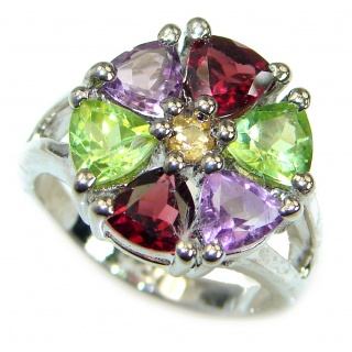 Energazing Multigem .925 Sterling Silver Ring size 5 1/2