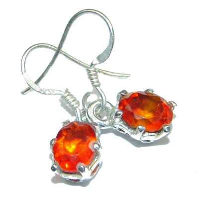 Red Cubic Zirconia .925 Sterling Silver earrings