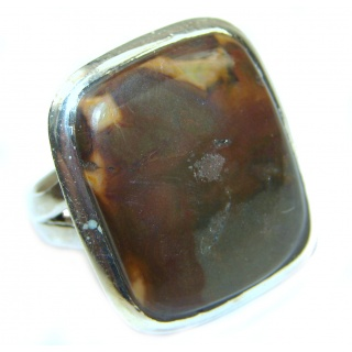 Australian Mookaite .925 Sterling Silver handcrafted Ring size 7 1/4