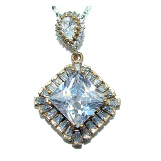 Victorian Style White Topaz .925 Silver necklace