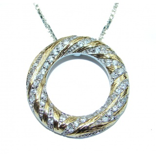 Sublime two tones .925 Sterling Silver handcrafted necklace