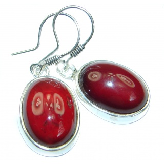 Authentic 36CT genuine Garnet .925 Sterling Silver handmade earrings