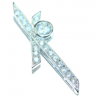 Fancy White Topaz .925 Sterling Silver Pendant