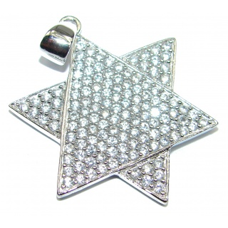 Star Fancy White Topaz .925 Sterling Silver Pendant