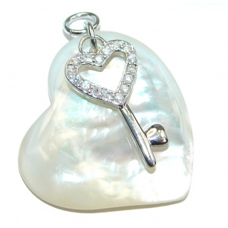 Unique Blister Pearl .925 Sterling Silver Pendant