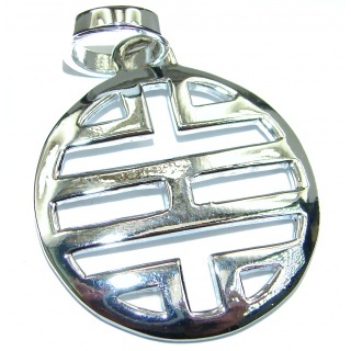 Fancy .925 Sterling Silver Pendant