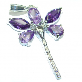 Dragonfly Cubin Zirconia .925 Sterling Silver Pendant