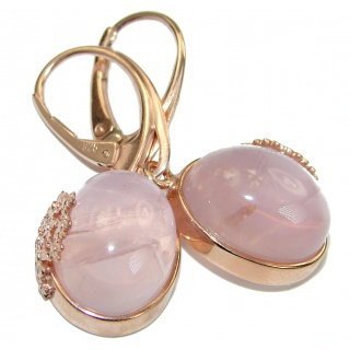 Enchanted Garden genuine Rose Quartz .925 Sterling Silver handmade earrings