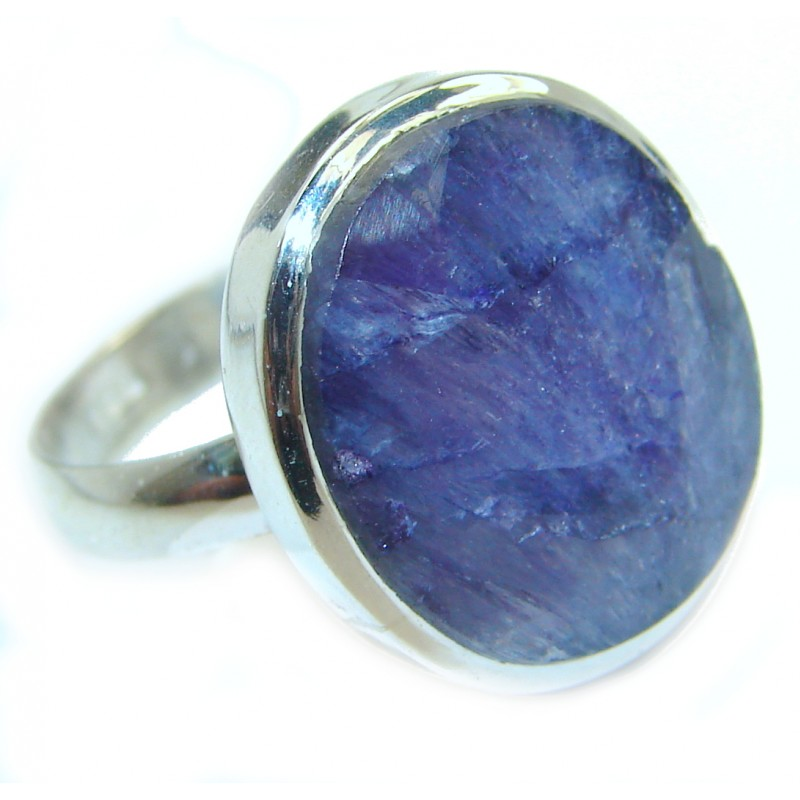 Spectacular Sapphire .925 Sterling Silver Ring s. 7