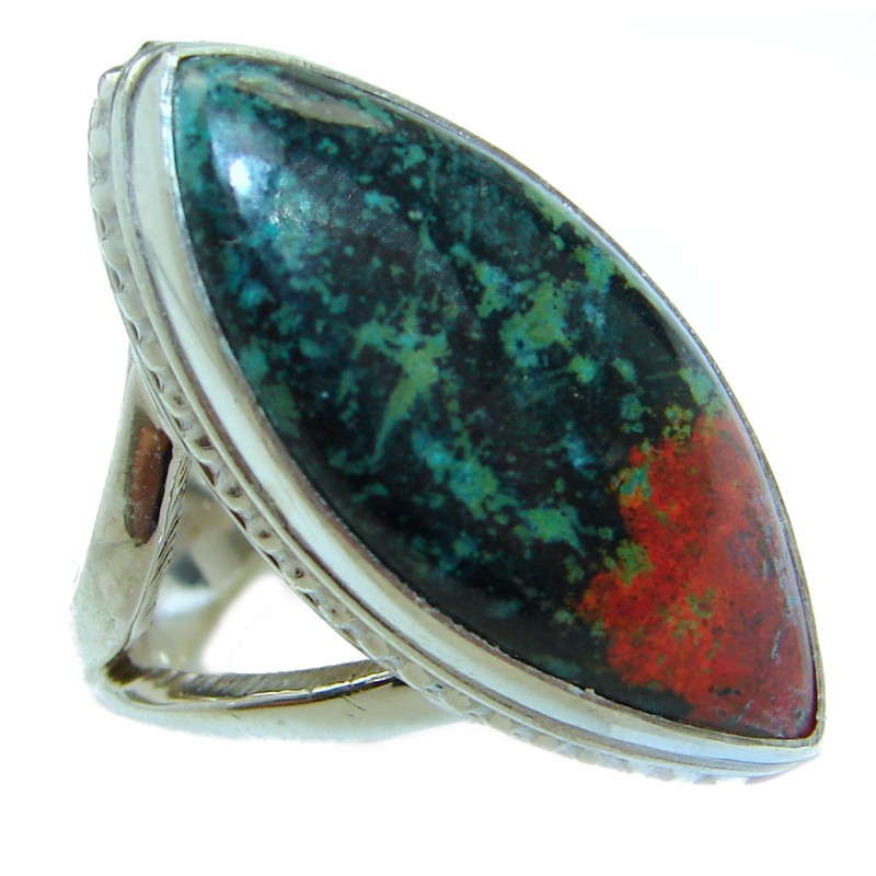 Sonora Jasper .925 Sterling Silver handcrafted Ring size 5 3/4