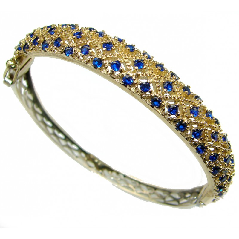 Special Item created Sapphire .925 Sterling Silver Bracelet