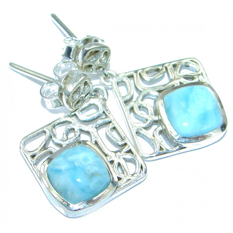 Sublime Larimar .925 Sterling Silver handmade earrings