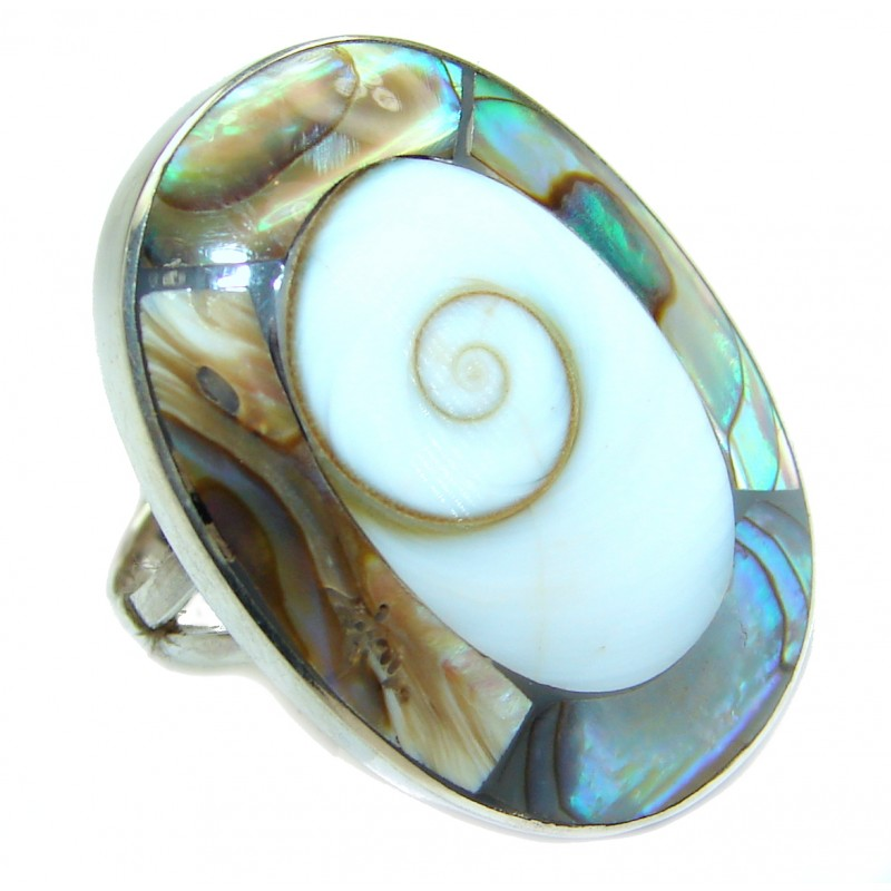 Under the Sea Shiva Shell .925 Sterling Silver Ring size 6
