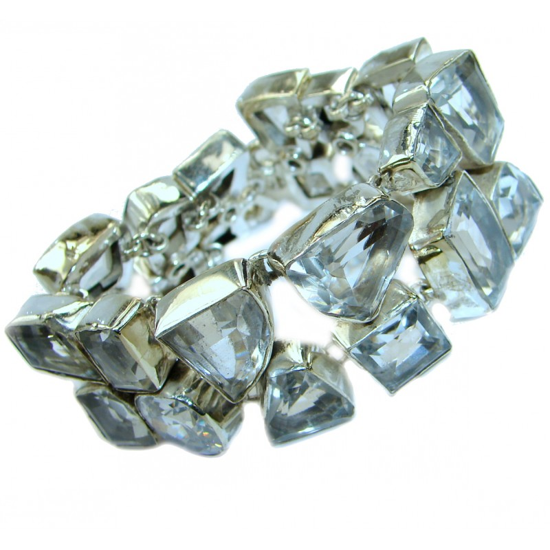 Sublime White Topaz .925 Sterling Silver handcrafted Bracelet