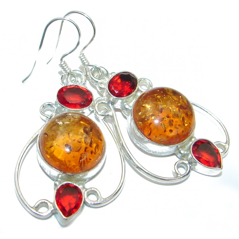 Precious Copal .925 Sterling Silver handmade earrings