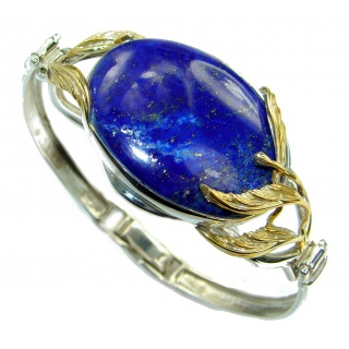 Blue Waves Lapis Lazuli Oxidized 14K Gold over .925 Sterling Silver handcrafted Bracelet